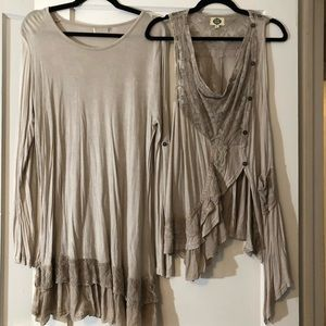 Tops - Extra large two piece set evening blouse tunic.